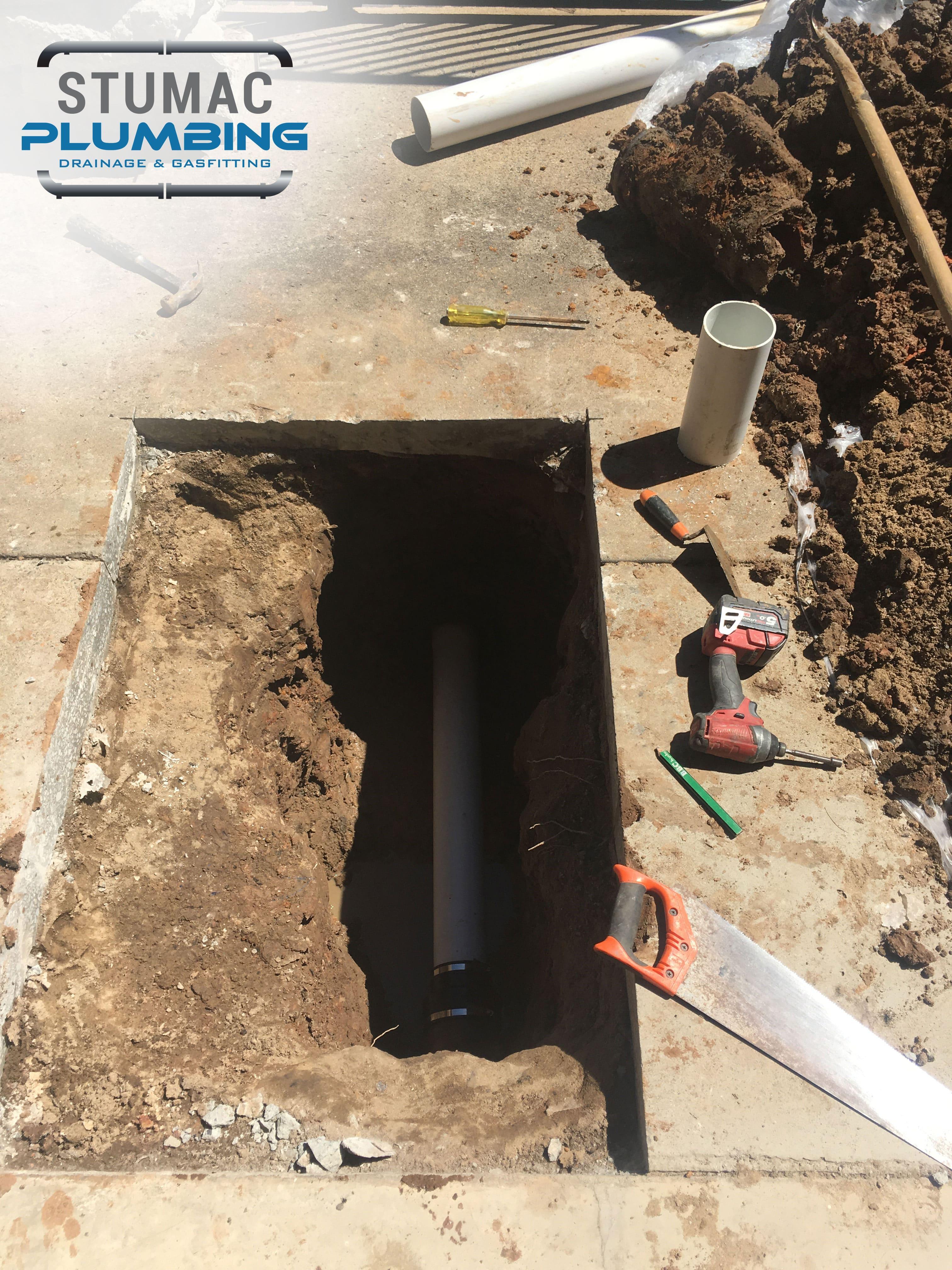 drainage pipe work